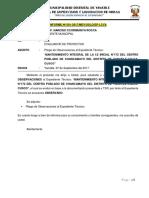 Pliego de Observaciones i.e Chancamayo