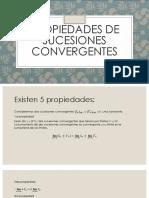 Propiedades de Sucesiones Convergentes