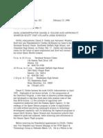 Official NASA Communication n98-022
