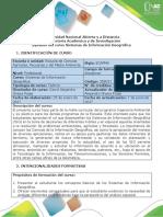 Syllabus del curso Sistemas de Información Geográfica