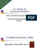 Modelo de Crescimento Endógeno