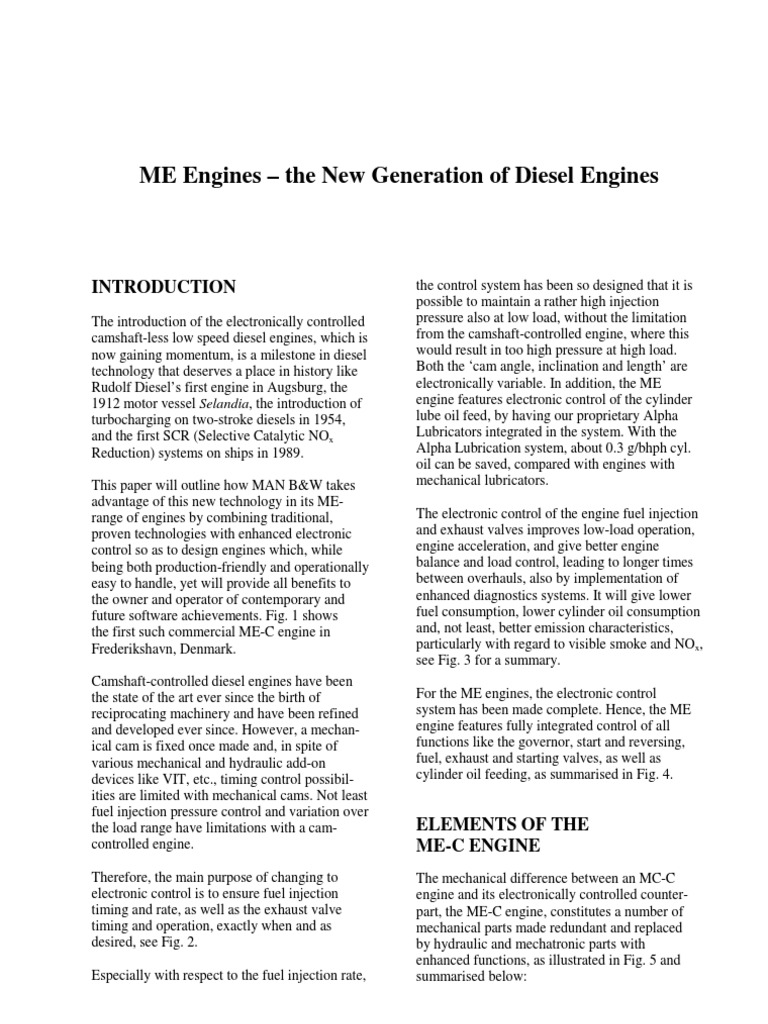 camless two stroke main propulsion engine-B&W ME-- C | Engines ...