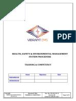 PR Training & Competency