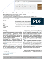 Evaluation and modeling of the energy demand during machining