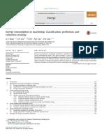 Energy consumption in machining