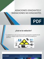 Radiacion Ionizante y Radiacion No Ionizante