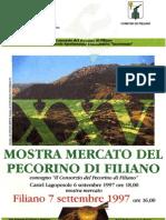 """Convegno """"Il Consorzio del Pecorino di FIliano"""" 1997 - Archivio Storico"""