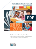 EQAO Standardized Tests Provincial Report Elementary 2017
