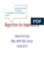 Algorithm for Haematuria Presentation