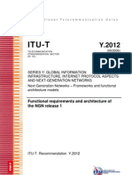 Ref.3 - Y.2012 Functional Requirements and Architecture of NGN Release 1