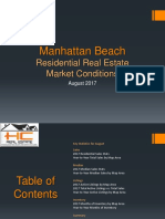 Manhattan Beach Real Estate Market Conditions - August 2017