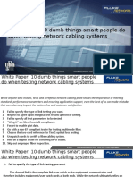 White Paper 10 Dumb Things Smart People Do When Testing Network Cabling Systems