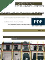 Analisis Ornamental de La Fachada de La Casa Jr Ica