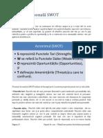 Plan de Dezvoltare Personala(PDP) - SWOT