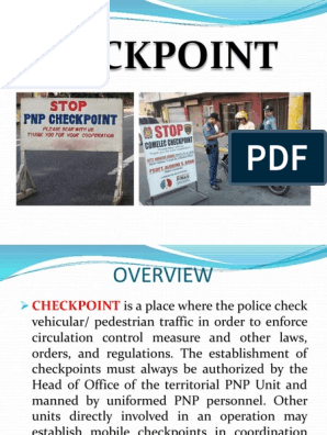 Checkpoint Ppt Presentation | Police | Traffic