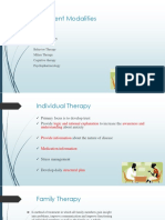 Treatment Modalities Therapies