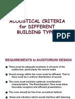 Acoustic Criteria