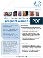 Rice Policy Brief 2 What is the Real Nutritional Status of Pregnant Women in India