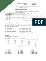 Examen 1ro 4to 2016 f Escala y Ecuaciones Alg Simples RESPUESTAS