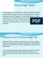 Report of Law1 - Other Percentage Tax