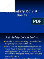 Lab Safety Dos and Donts