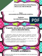Plena Ria Barba procesamiento de la informacion estadistica