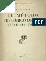 El Metodo Historico de Las Generaciones