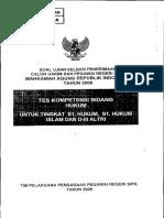 Tes Kompetensi Bidang Hukum (CAKIM 2009) 02