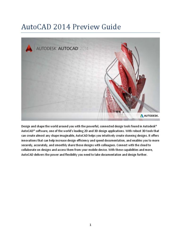 autocad 2014 preview guide auto cad autodesk rh scribd com guide autocad 2014 francais guide autocad 2014 francais