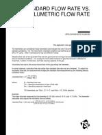 Standart Flow Rate vs Volumentic Flow Rates Concepts