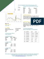 Market Update 20th September 2017