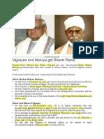 About Madan Mohan Malviya & Atal Bihari Vajpayee