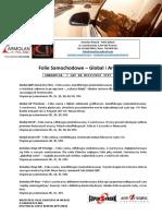 Opis Folii Samochodowych - Global & Armolan 2018