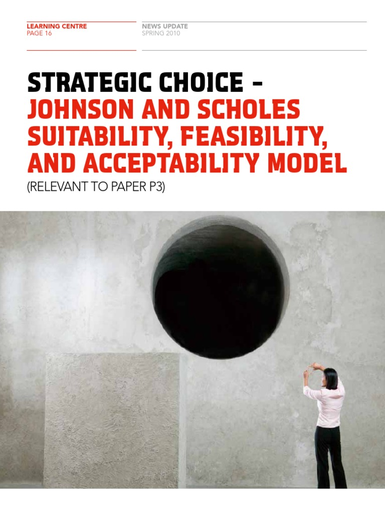 suitability feasibility acceptability johnson and scholes