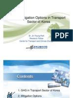GHG Mitigation Options in Transport Sector of Korea