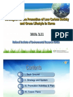 Strategies for the Promotion of Low Carbon Society and Green Lifestyle in Korea