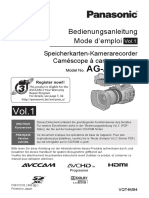 Operating Instructions Panasonic Ag Ac90