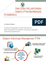 Pencatatan Dan Pelaporan Faktor Risiko PTM Berbasis Posbindu