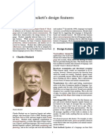Hockett's Design Features