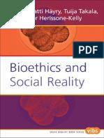 Bioethics and Social Reality - 2005