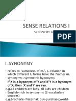 Sense Relations i