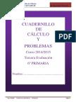 Cuadernillo Calculo y Problemas -3 Evaluacion