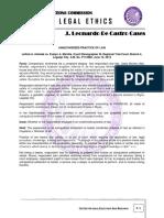 Omnibus Cases - Legal Ethics