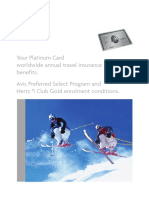 Platinum Card Summary of Travel Insurance Benefits