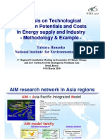 Analysis on Technological Mitigation Potentials and Costs in Energy Supply and Industry - Methodology & Example