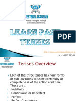 Learn Past Tense