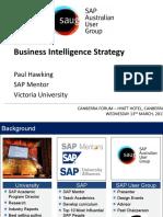 SAUG Canberra BI Strategy
