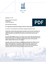 Mayor's Letter - TPSB Re HTA Amendment