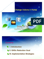 Climate Change Actions in Korea