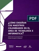 Como Enseñan Los Maestros Colombianos en El área de Tecnología e Informática